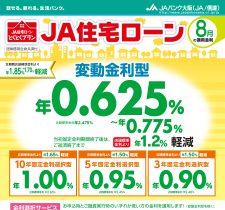 住宅ローン(8月の適用金利)