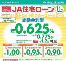 住宅ローン(11月の適用金利)