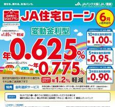 住宅ローン(6月の適用金利)